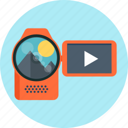 camera, piture, video camera, watch icon