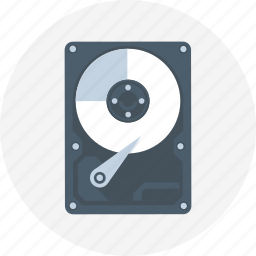 hard disk, hard drive, hdd, solid state disk icon