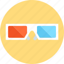 glasses, three dimensional glasses icon