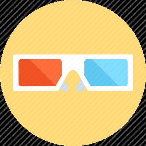 glasses, three dimensional glasses icon