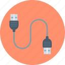cable, plug and play, usb icon