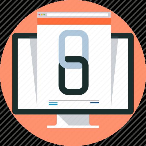 computer, hyperlink, link, website link icon
