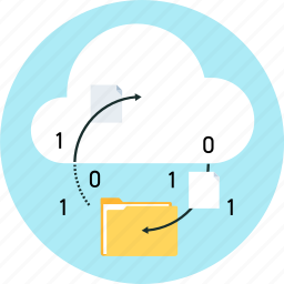 cloud, cloud synchronization, files, folders, share icon