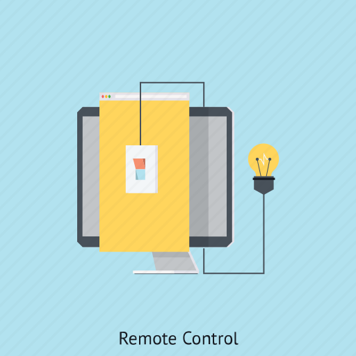 computer, internet, lamp, online monitoring, remote control, security system, technology icon