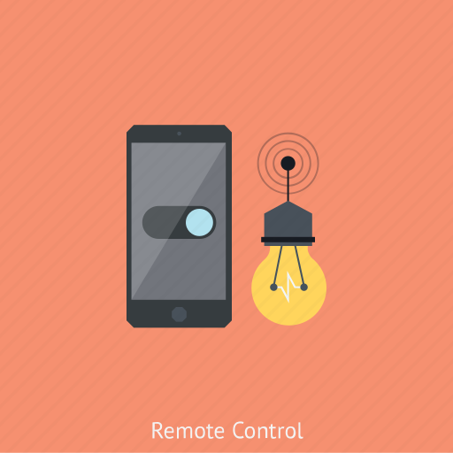 internet, lamp, online monitoring, phone, remote control, security system, technology icon