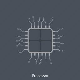 board, chip, core, cpu, hardware, processor icon