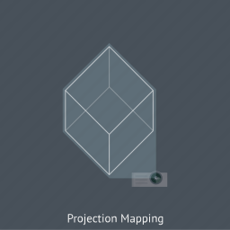 architecture, generative art, light, projection mapping, projectors, video mapping icon