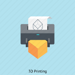 interface, print, printer, three dimensional, tool icon