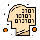 binary, code, human, recognition icon