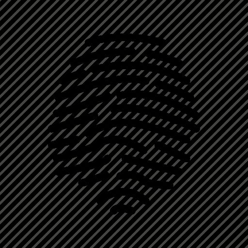fingerprint, identity, tap, touch icon