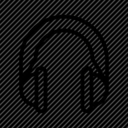 earphones, headphone, headset, microphone icon