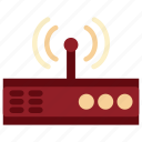 communication, device, electronic, modem, modem icon, tecnology, wi fi icon