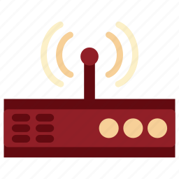 communication, device, electronic, modem, modem icon, tecnology, wi fi icon
