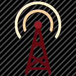 antenna, antenna icon, communication, device, electronic, signal, tecnology icon