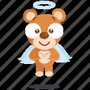 angel, bear, sticker icon