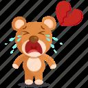 broken, sticker, teddy icon