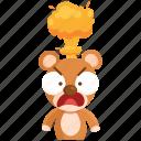 angry, emoji, emoticon, mindblown, smiley, sticker, teddy