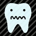 confused, dental, dentist, emoji, hygiene, teeth, tooth icon