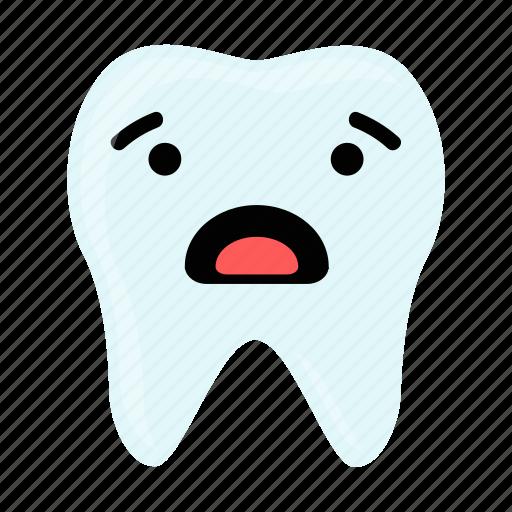 dental, dentist, emoji, hygiene, teeth, tooth, worry icon