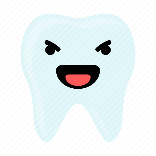 dental, dentist, emoji, hygiene, laugh, teeth, tooth icon