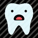 dental, dentist, emoji, hygiene, shocked, teeth, tooth icon