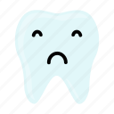 dental, dentist, emoji, hygiene, sad, teeth, tooth icon