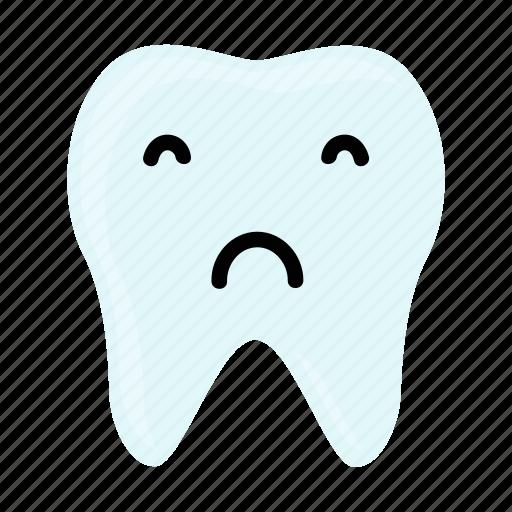 dental, dentist, emoji, hygiene, sad, teeth, tooth icon