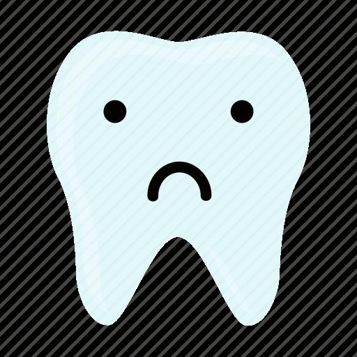 dental, dentist, emoji, hygiene, teeth, tooth, unhappy icon
