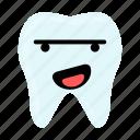 dental, dentist, emoji, happy, hygiene, teeth, tooth icon