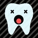 dental, dentist, emoji, hygiene, teeth, tooth, unhealthy icon