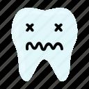 dental, dentist, emoji, hygiene, sick, teeth, tooth icon