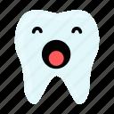 dental, dentist, emoji, hygiene, teeth, tooth, yawn icon
