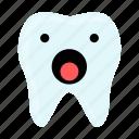 dental, dentist, emoji, hygiene, surprise, teeth, tooth icon