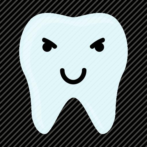 dental, dentist, emoji, evil, hygiene, teeth, tooth icon