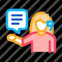 by, help, phone, sale, telemarketing, verbal, woman