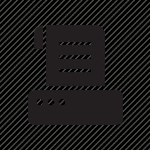 communication, copy, facsimile, fax, technology icon
