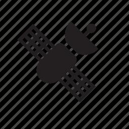 communication, device, orbiting, satellite, technology icon