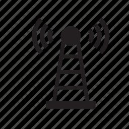antenna, communication, technology icon