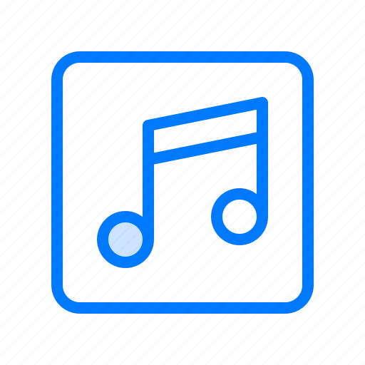 music, music player, note, quaver, song icon