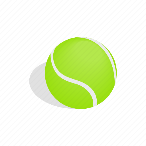 ball, circle, green, isometric, sphere, sport, tennis icon