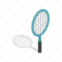 equipment, game, isometric, racket, racquet, sport, tennis icon