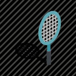 equipment, game, isometric, racket, racquet, sport, tennis icon