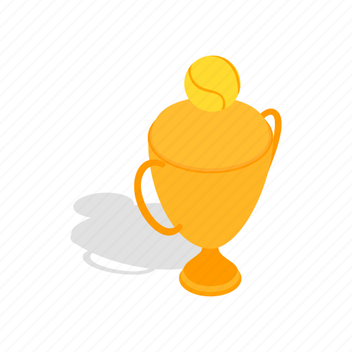 award, cup, isometric, prize, tennis, trophy, winner icon