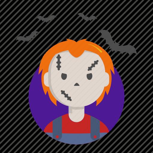 chucky, fear, halloween, killer, puppet icon