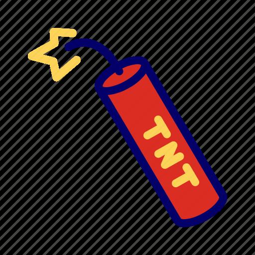 bomb, explosion, terrorism, tnt, weapon icon