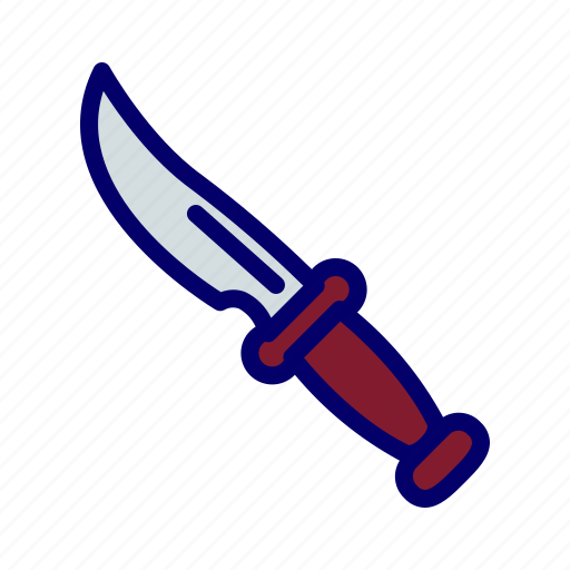 knive, military, sharp, stab, weapon icon