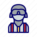 man, mask, terrorist icon
