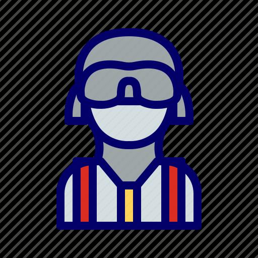 man, mask, terrorist icon
