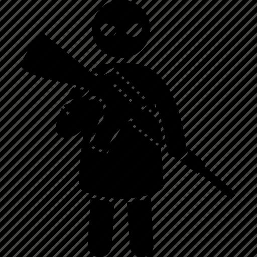 child, children, gun, kid, terrorism, terrorist, war icon