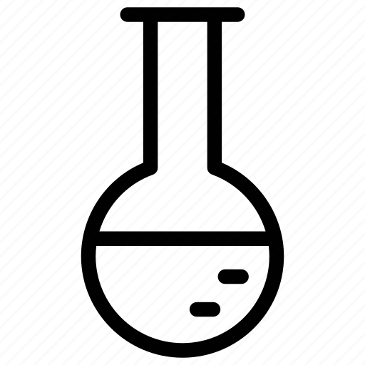 chemical flask, conical flask, erlenmeyer flask, florence flask, laboratory flask icon